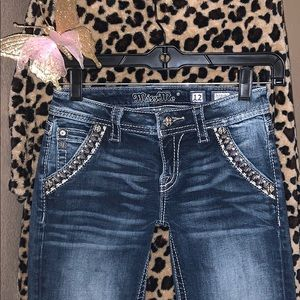 Miss me girls bootcut jeans size 12 Embellished💜